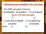 perfil do jovem brasileiro 18 a 24 anos