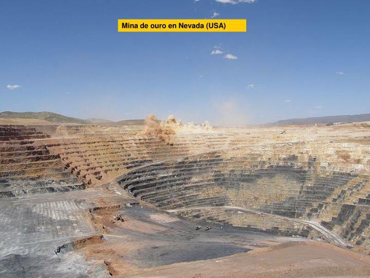 Mina de ouro en Nevada (USA)