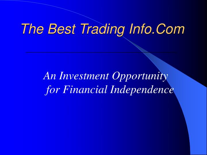 the best trading info com n.
