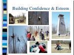building confidence esteem