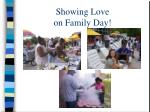 showing love on family day