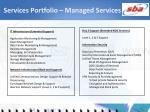 services portfolio managed services