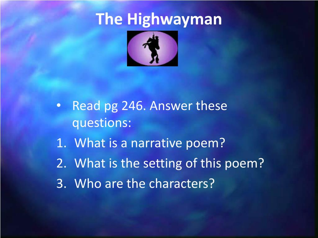 Ppt The Highwayman Powerpoint Presentation Free Download