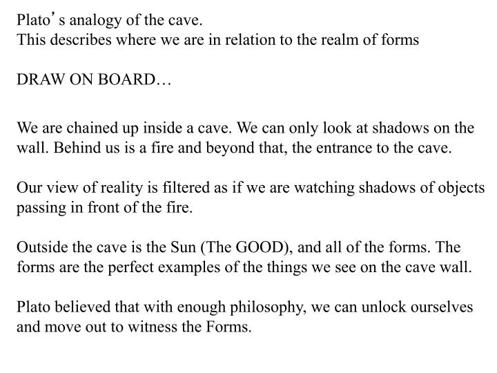 platos analogy of the cave