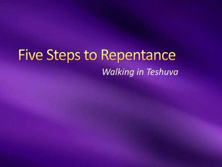 five steps to repentance n.