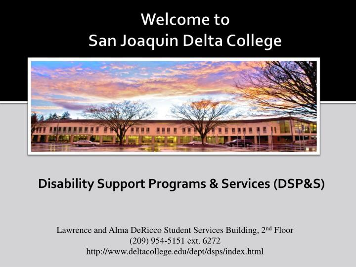 welcome to san joaquin delta college n.