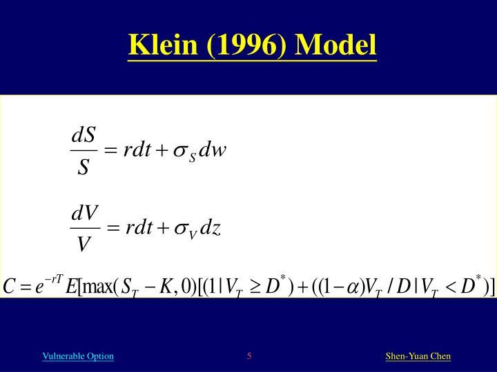Klein (1996) Model