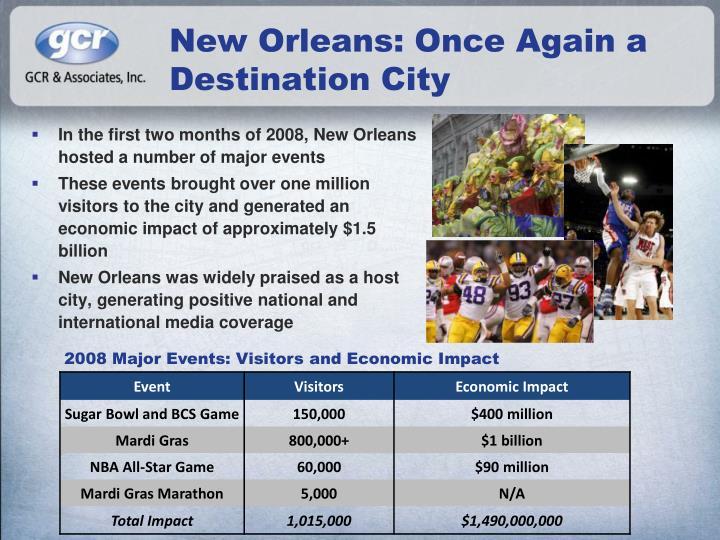 New Orleans: Once Again a Destination City