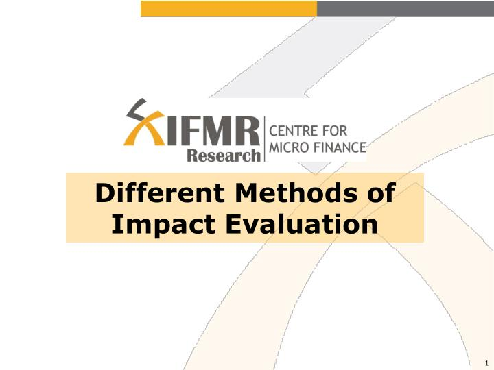 different methods of impact evaluation n.