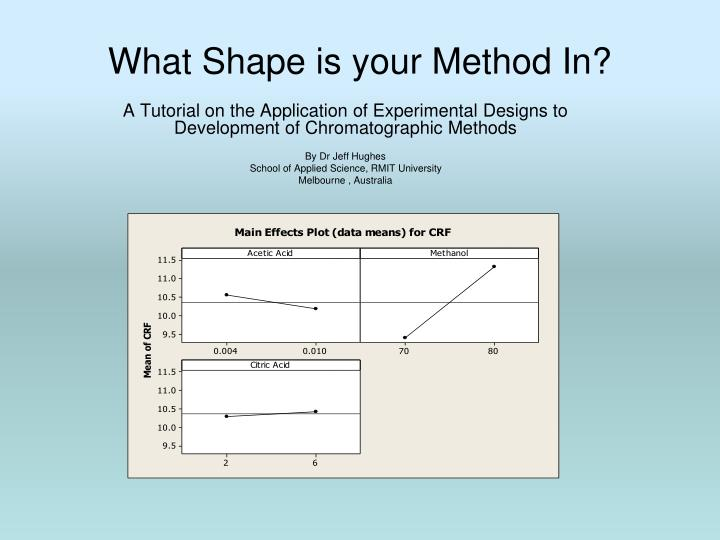 what shape is your method in n.