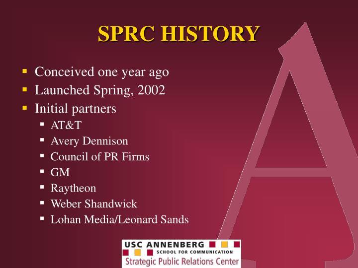 SPRC HISTORY