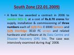 south zone 22 01 2009