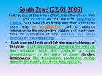 south zone 22 01 200910