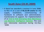 south zone 22 01 200912