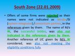 south zone 22 01 200913