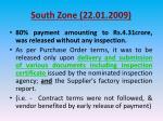 south zone 22 01 200915