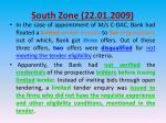 south zone 22 01 20092
