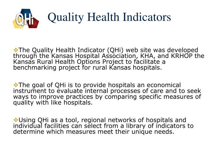 Quality health indicators1