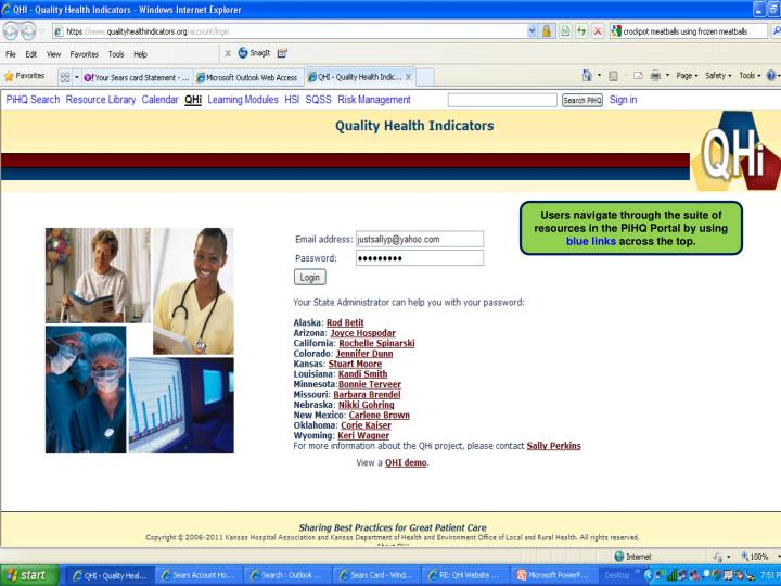 Users navigate through the suite of resources in the PiHQ Portal by using