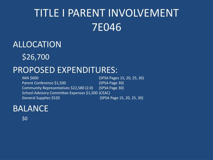 Title i parent involvement 7e046