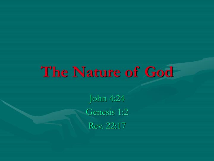 the nature of god n.