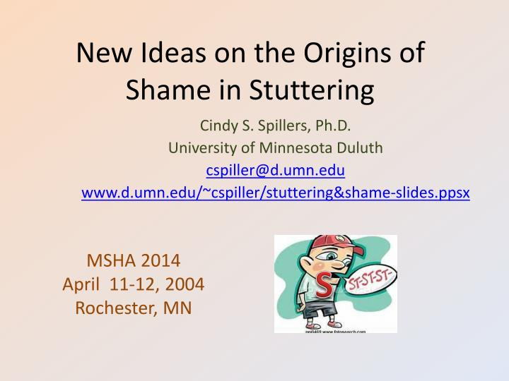 new ideas on the origins of shame in stuttering n.
