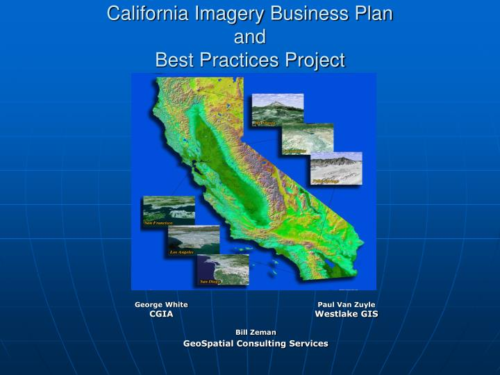 california imagery business plan and best practices project n.