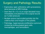 surgery and pathology results