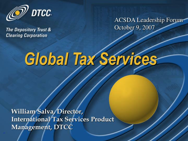 global tax services n.