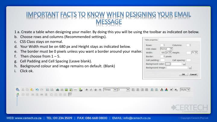 Important facts to know when designing your