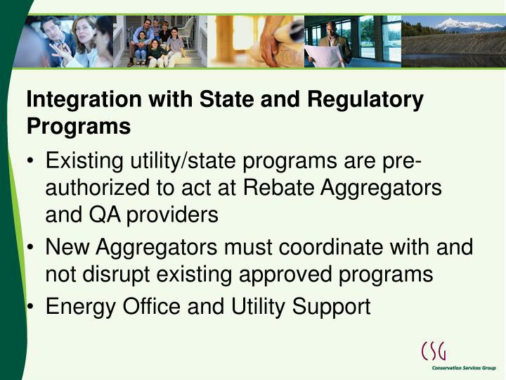 Integration with State and Regulatory Programs