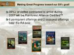 making great progress toward our 50 goal