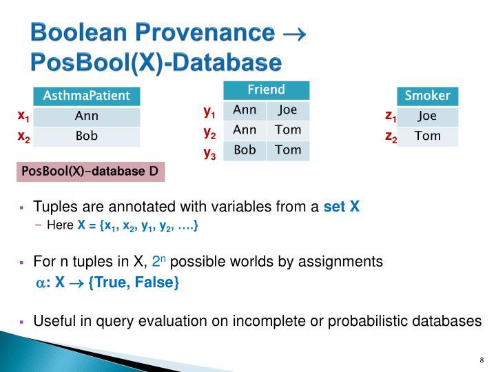 Boolean Provenance