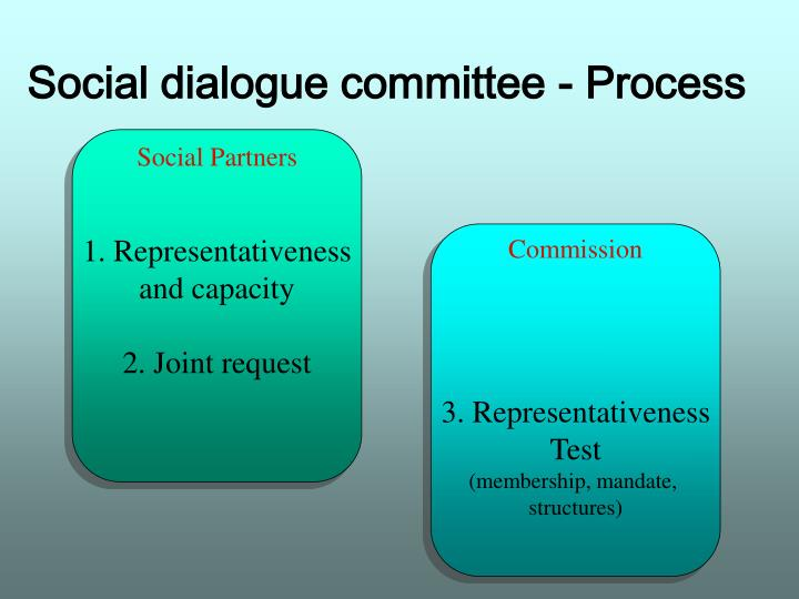 Social dialogue committee - Process