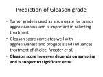 prediction of gleason grade