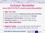 inclusion newsletter www salto youth net inclusionnewsletter