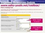 inclusion resources online www salto youth net toolbox