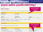 looking for trainers www salto youth net toy