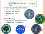 how is research funded