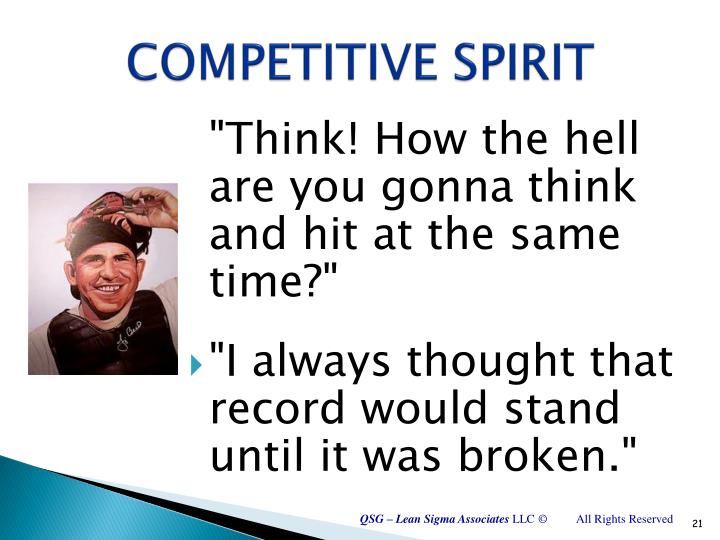 COMPETITIVE SPIRIT