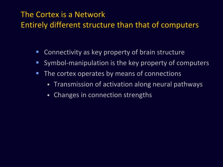The Cortex is a Network