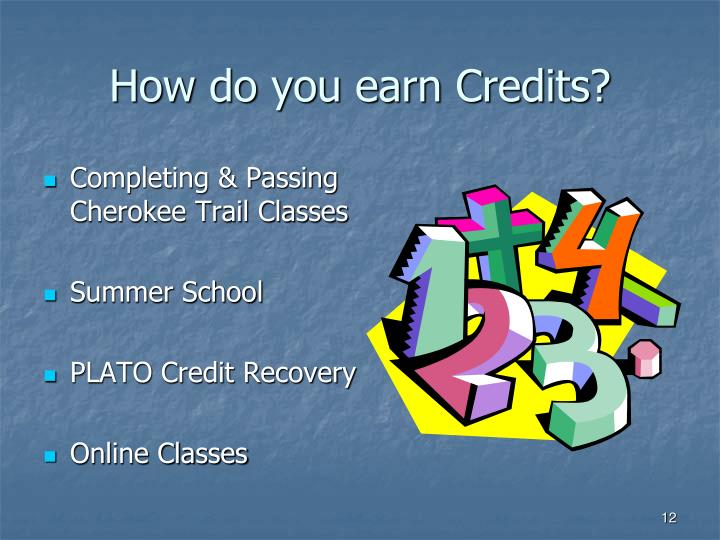 How do you earn Credits?