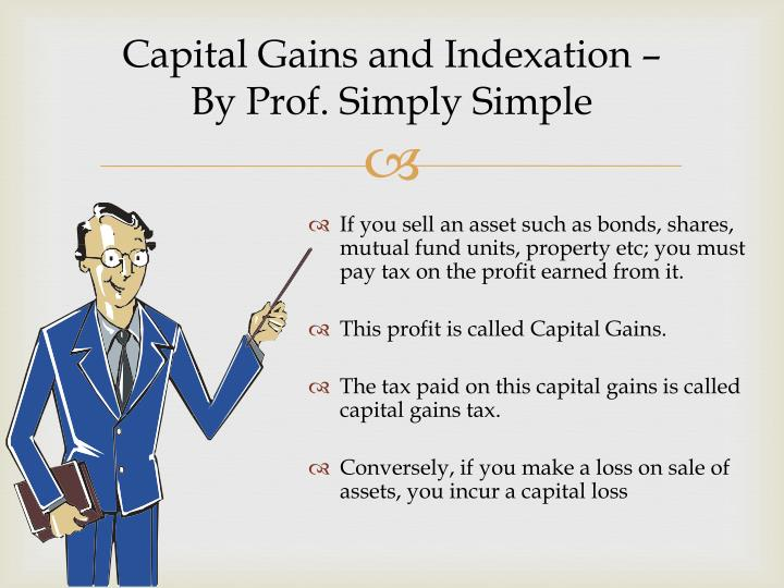 capital gains and indexation by prof simply simple n.