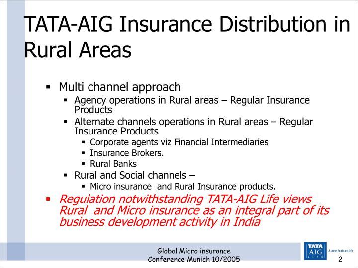 Tata aig insurance distribution in rural areas