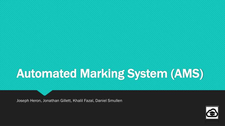 automated marking system ams n.
