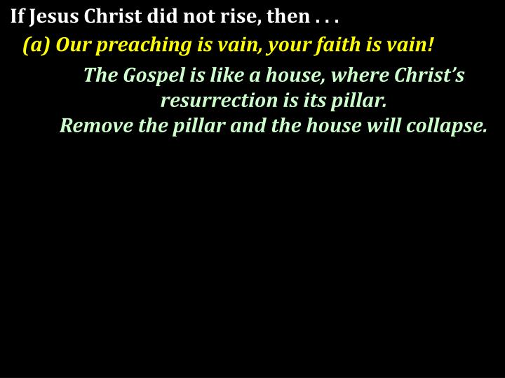 If Jesus Christ did not rise, then . . .