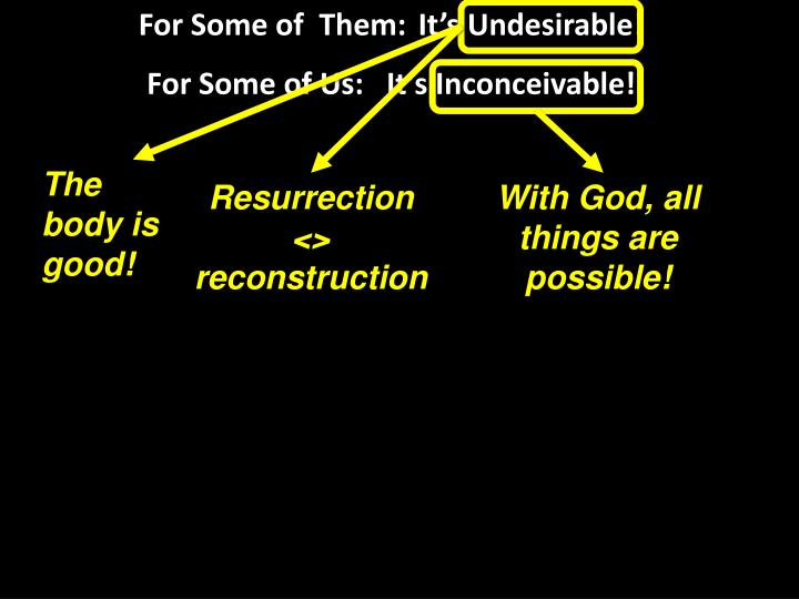 For Some of  Them:It's Undesirable!