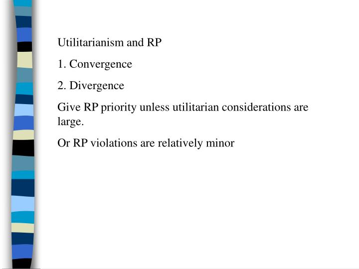 Utilitarianism and RP