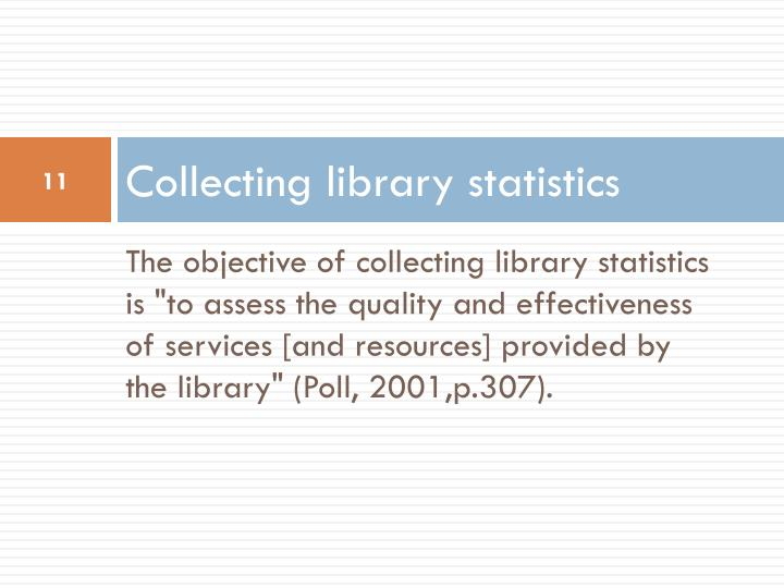 Collecting library statistics