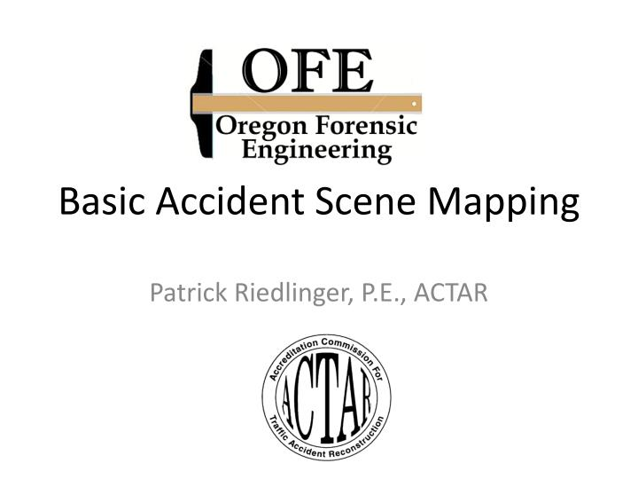 basic accident scene mapping n.